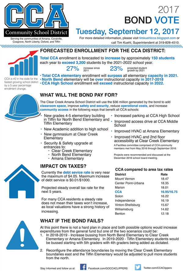 2017 Bond Referendum Flyer