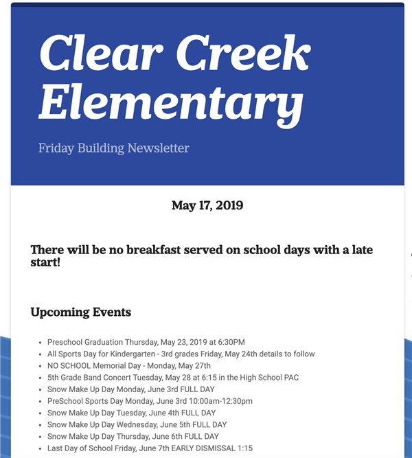 CCE Newsletter graphic