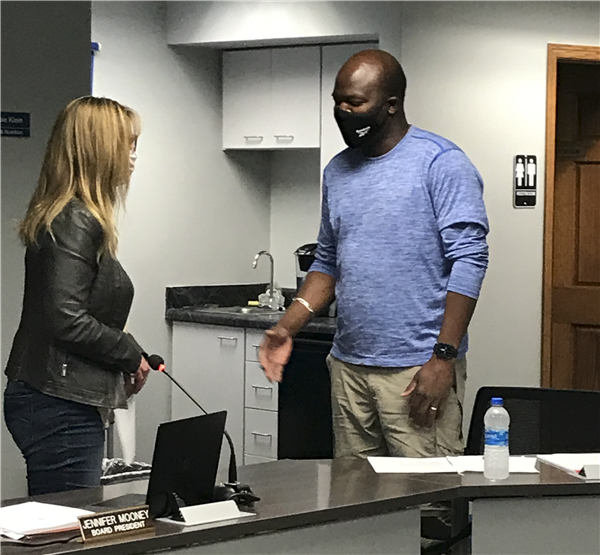 Abdouramane Bila sworn in at board meeting