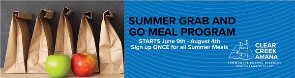 free summer meals graphic